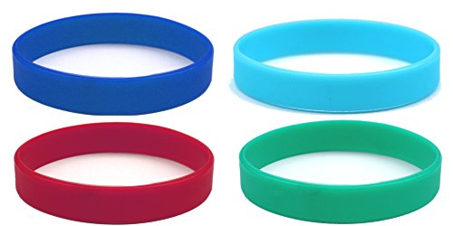 Beyond Dreams 4 Silikon Armbänder (Grün Hellblau Rot Dunkelblau) für Damen Herren   Unisex Fitness Accessoire Silikonarmband   Powerarmbänder als Schmuck
