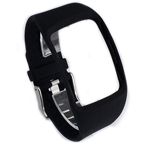Greatfine Cinturino intercambiabile per Samsung Galaxy Gear S SM-R750 Cinturini di Ricambio braccialetto sostituzione band accessori (Black)