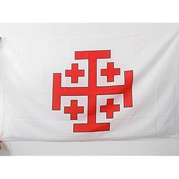 OSSH FAHNE 90 FLAGGE GROßMEISTER ORDEN VOM HEILIGEN GRAB ZU JERUSALEM 90x90cm