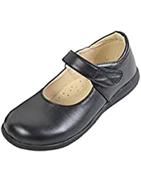lisianthus002Kid 's Uniforme Flat Niñas Negro Mary Jane Escuela Zapatos, color Negro, talla 27,5 EU Niño