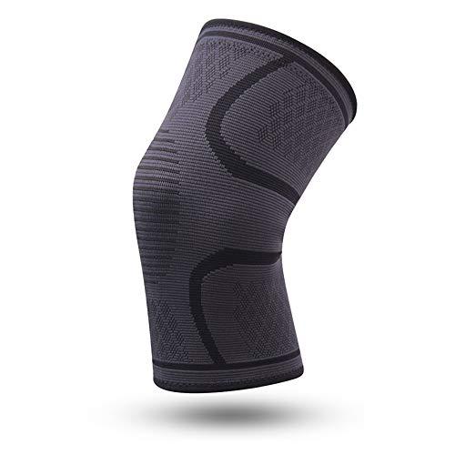 WXQQ SportKompression Knie Sleeve für Damen & Herren - Elastische Kniebandage - Atmungsaktive Kniestütze bei Meniskus-Beschwerden, Knie Arthrose, Sehnenentzündung & BänderrissBlack