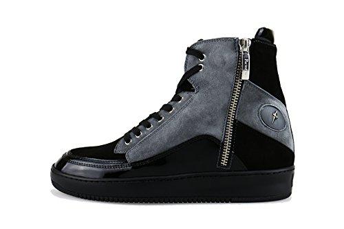 cesare-paciotti-4us-36-eu-sneakers-black-suede-grey-patent-leather-ag125