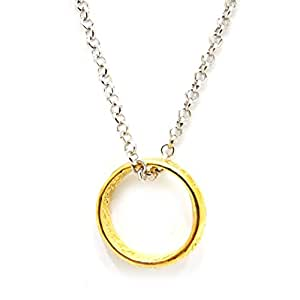 Buy happy giftmart lord of the rings gold ring pendant and chain for happy giftmart lord of the rings gold ring pendant and chain for girls guys aloadofball Images