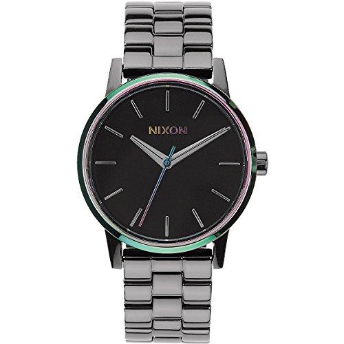 nixon-damen-armbanduhr-xs-small-kensington-gunmetal-multi-analog-quarz-edelstahl-a3611698-00