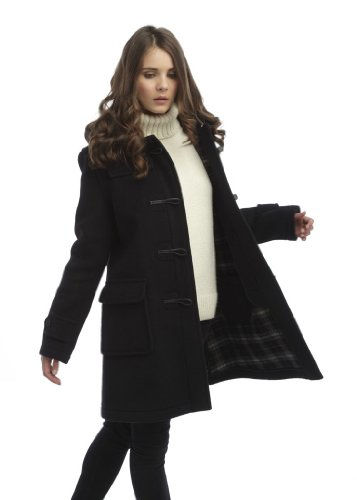 Original Montgomery London Dufflecoat Damen Schwarz