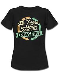 Sport Design Crossgolf RAHMENLOS Geschenk Hobby Frauen T-Shirt von Spreadshirt®