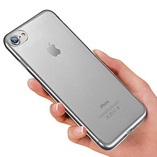 Produktbild innislink iPhone 8 Schutzhülle,  iPhone 7 Silikon Hülle,  Weiche TPU Handyhülle Ultra Dünn iPhone 8 / iPhone 7 Bumper Case Kratzfest Stoßfesten Schlank Case Cover für iPhone8 / iPhone7 Hülle - Transparent