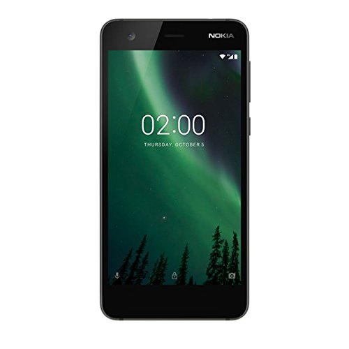 "Nokia 2 - Smartphone de 5"" (Quad-Core 1.3 GHz, memoria 8 GB ampliable hasta MicroSD de 128 GB, cámara de 8 MP, AF, Android 7.0) color negro"
