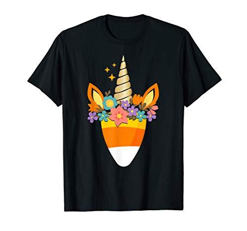 Einhorn Candy Corn Halloween Shirt Trick Or Leckerli Party T-Shirt