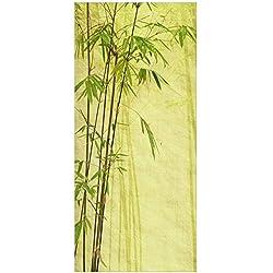 posterdepot Türtapete Türposter Bambuspflanzen auf antikem Hintergrund - Größe 93 x 205 cm, 1 Stück, ktt0228