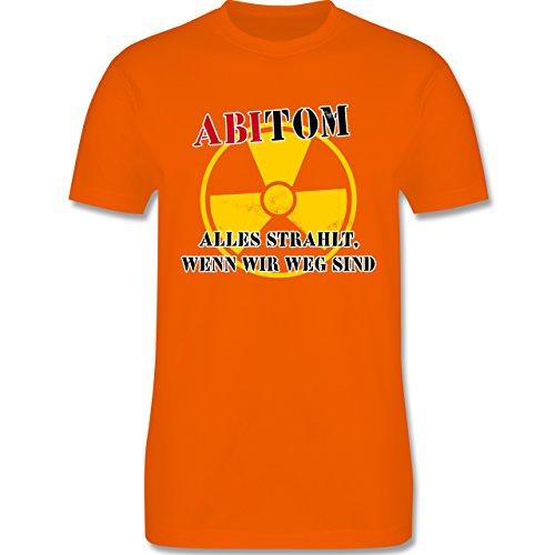 Abi & Abschluss - ABItom- Alles strahlt, wenn wir weg sind - Herren Premium T-Shirt Orange