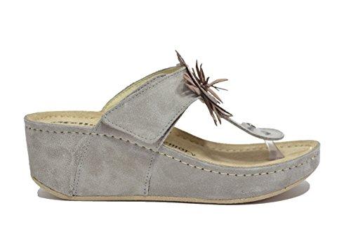 Melluso Ciabatte infradito zeppa taupe sandali donna Q60053 38