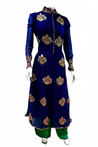vaankosh fashion women\'s blue Georgette exclusive designer bollywood partywear Dress Material