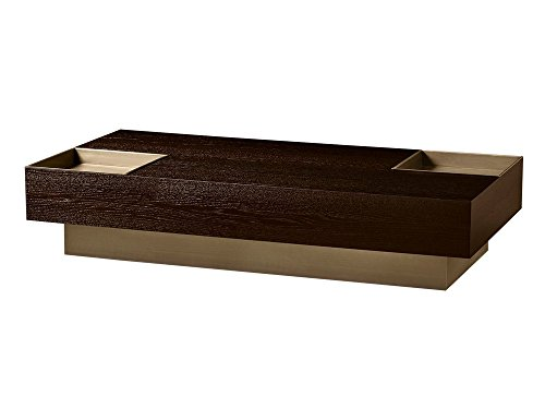 Afydecor Great Looking Wooden Cubist Coffee Table for Modern Living Room - Brown