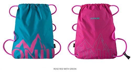 Imagen de aonijie   de cordones para niños impermeable, para la escuela o el gimnasio, para deporte, nadar, danza, zapatos , green&rose red alternativa