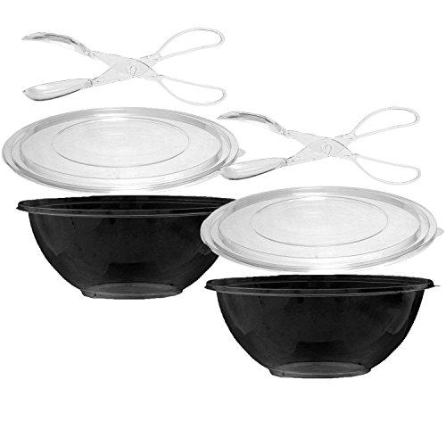 Catering-Grade Einweg-Servierschalen mit Deckel, mit Servierzange, 473 ml 2 Bowls & Tongs - 5 Quart-schalen