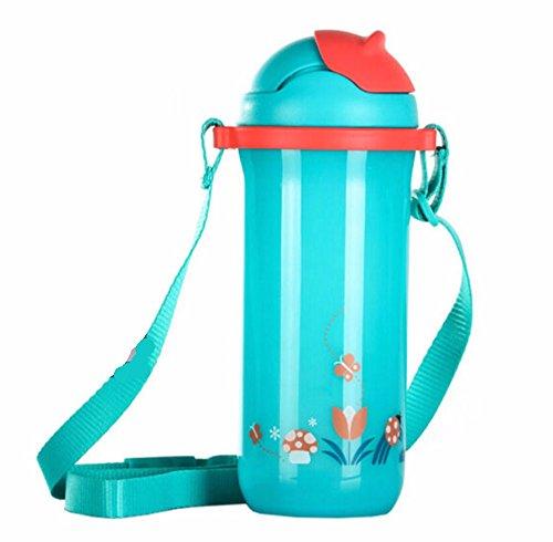 HZBY Kinder Tassen, Schnabeltassen für Kinder, tragbare Wasserflaschen im Sommer Gesundheitsdrink, nehmen Stroh Straps außerhalb mit Tassen 1