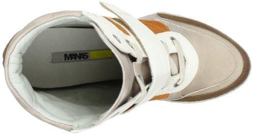 Manas 131D2401Keke, Baskets mode femme Multicolore (Nocciola/Sasso/Arancio/Avorio)