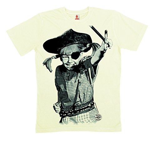 Eroina - Pippi Calzelunghe Pirata maglietta 100% cotone organico (produzione biologica) - bianco - LOGOSHIRT, taglia M