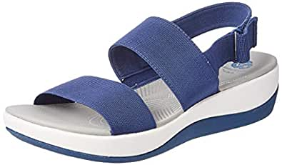 Clarks Women's Arla Jacory Blue Fashion Sandals-4 UK/India (37 EU) (91261410004040)
