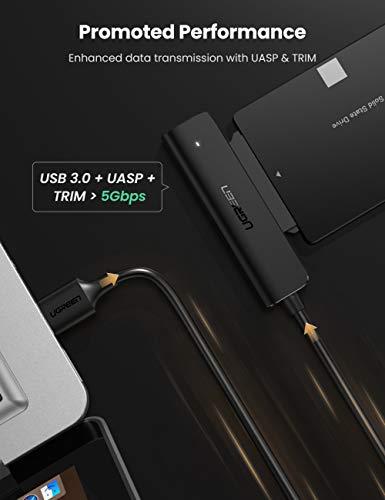 UGREEN Cable SATA a USB 3.0,  Adaptador SATA III a USB con UASP para 2, 5