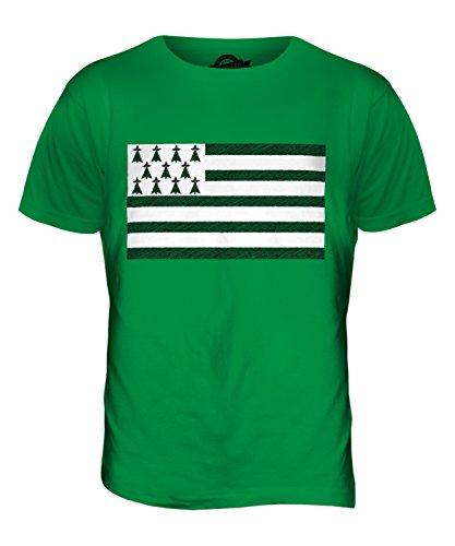 CandyMix Bretagne Kritzelte Flagge Herren T Shirt Grün