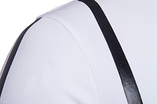 ZhiYuanAN Sommer Kurzarm Polohemd Männer Lässig Einfachheit Stripes Revers T-Shirt Große Größen Drucken Polo Shirt Weiß