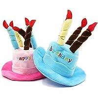 JiChuio Mascota Caps Sombrero Feliz Cumpleaã±Os con Velas Diseã±o Partido Lindo casa de Estilo Sombreros Mascotas