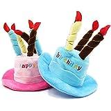 JiChuio Pet Caps Cappello di Buon Compleanno con la Torta Candele di Disegno del Partito di Stile Sveglio Pet Cappelli casa