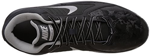 Nike The Overplay Viii Chaussure de sport pour homme Black/Mtllc Slvr/Anthracite/Flt Slv