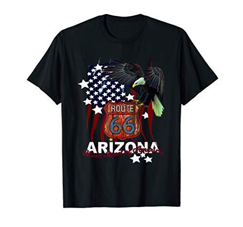 Arizona Distressed Route 66 Main Street of America Souvenir T-Shirt -