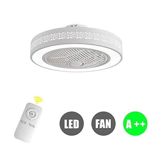 ZDXR Fan Plafoniera Creativa Moderna Plafoniera LED Dimmerabile Ventilatore a soffitto con Illuminazione e Telecomando Silenzioso vivaio Camera da Letto Soggiorno Illuminazione