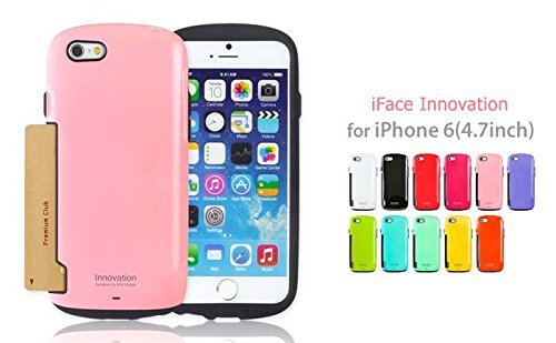 iFace Apple iPhone 6 Case Innovation Collection - Premium Slim Fit Dual Layer Protective Hard Case Apple New iPhone 6 Case 6 2014 Model (4.7 inch)(Orange) Hot Pink