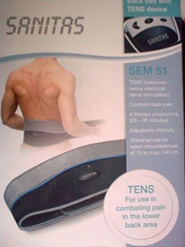 Sanitas Rückentens Tens Gerät SEM 51 Massagegürtel Reizstrom Schmerz Therapie