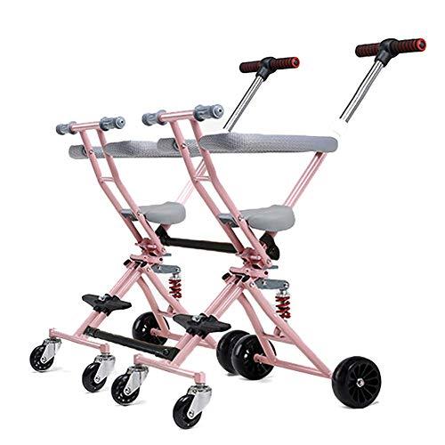 Grhlyr passeggino a due posti pieghevole a due posti pieghevole passeggino gemellare staccabile facile da trasportare leggero quattro ruote