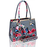 60b1149d5238 ... Leather Celebrity Shopper Tote Bags ... Ladies Women s Fashion Designer  Patent Poppy Butterfly Print Shoulder Bag Hot Selling Shinny .