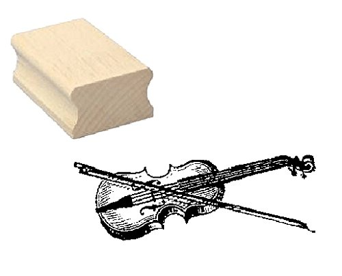 Stempel Holzstempel Motivstempel « VIOLINE » Scrapbooking - Embossing Geige Komponist Musiker Streichinstrument Musik