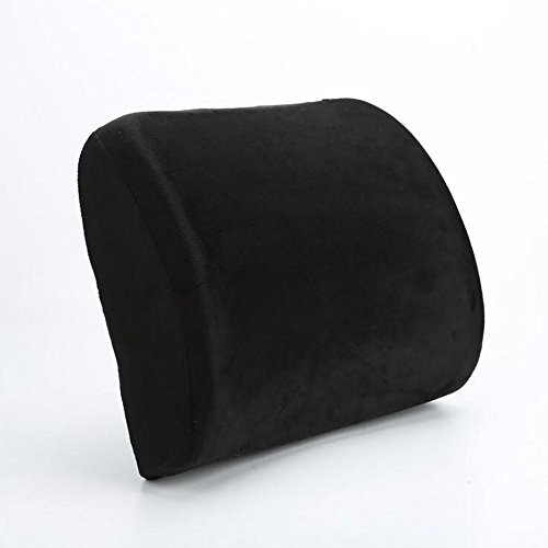 QLL HuanLeBao Memory Foam Rückenstütze Lendenkissen Schaum Lendenkissen Neues Design Rückenpolster Für Auto , Black