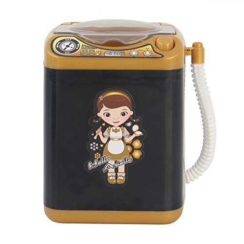 SMILEQ Make-up Pinselreiniger Gerät Automatische Reinigung Waschmaschine Mini Spielzeug (Schwarz) - Flüssige Bronze Seife Halter