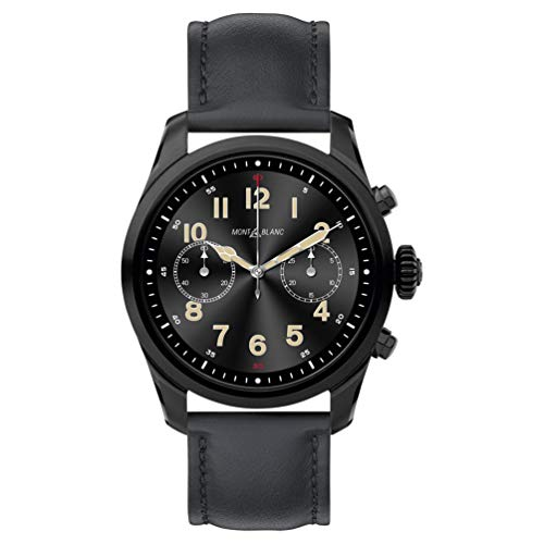 9 - Reloj Montblanc Summit 2 Smartwatch 119438 Acero Negro Piel Negra