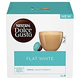 NESCAFÉ Dolce Gusto Flat White Coffee Pods, 16 Capsules (Pack of 3, Total 48 Capsules, 48 Servings)
