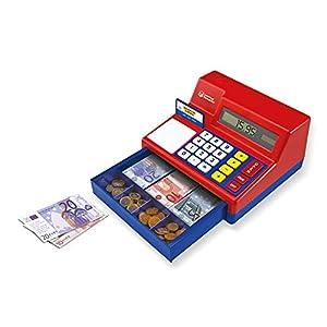 Learning Resources- Caja registradora calculadora con Dinero del Reino Unido de Juguete Pretend & Play, Color (LSP2629-EUR)