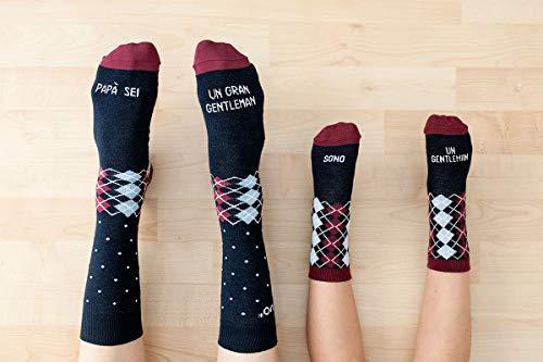 """Preisvergleich Produktbild UO""""Sono un Gentleman Socken Baumwolle,  Blau,  19-22"""