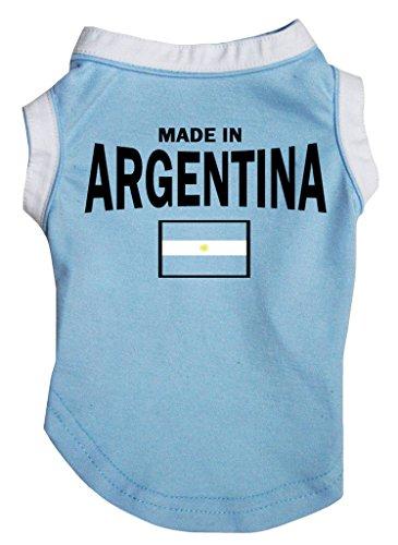 Petitebelle Hundebekleidung aus Baumwolle, hergestellt in Argentinien, Blau