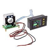 DollaTek Multimetro DC Digitale 0-90V 100A Voltmetro Amperometro Corrente Amp Potenza Watt capacità Tempo Tester Batteria Tester Monitor con Schermo LCD Hall Sensor 12V 24V 30V 48V 60V 80V Tensione