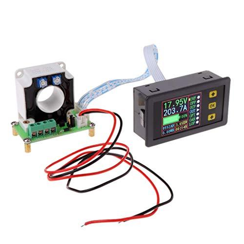 Dc Digital-multimeter (DollaTek Digital DC Multimeter 0-90V 100A Voltmeter Amperemeter Strom Amp Leistung Watt Kapazität Zeitmesser Batterietester Monitor mit LCD-Bildschirm Hall-Sensor 12V 24V 30V 48V 60V 80V Spannung)