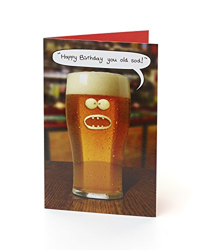 "Hanson weiß 342590–0–2,5cm Sie Old Sod. Funny Humor Witz""Bier Geburtstag Karte"