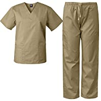 مجموعة ملابس طبية من ميدغير للجنسين رملي Small