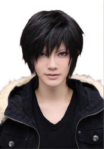 L-email wig™28cm Izaya Orihara Durarara Fullmetal Alchemist black short hairstyles Men Wigs Costumes Cosplay wigs RW46+ free Perücke Kappe Netto