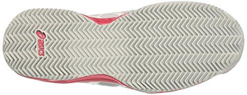 Asics Gel-Resolution 7 Clay, Scarpe da Tennis Donna Grigio (Glacier Grey/white/rouge Red)